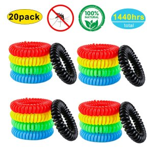 YSense - Mosquito Repellent Bracelets 20 Pack, All Natural, Deet Free and Waterproof Bands