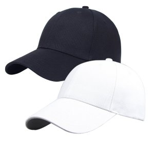 YSense - Pack of 2, Plain Baseball Cap Blank Hat